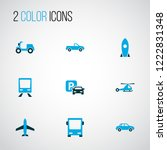 transport icons colored set... | Shutterstock .eps vector #1222831348
