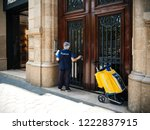 barcelona  spain   jun 1 2018 ... | Shutterstock . vector #1222837915