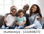 portrait of happy large african ...   Shutterstock . vector #1222838272