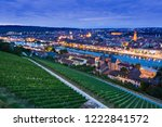 panorama of wurzburg at night.... | Shutterstock . vector #1222841572