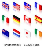 3d flag illustrations. uk ... | Shutterstock .eps vector #122284186