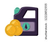 gallon of gasoline with coins | Shutterstock .eps vector #1222852555