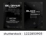 black friday sale banner or... | Shutterstock .eps vector #1222853905