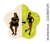 woman body transformation... | Shutterstock .eps vector #1222865155