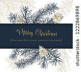 christmas sketch hand drawn... | Shutterstock .eps vector #1222869898