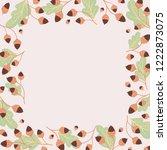 vector autumn square frame of... | Shutterstock .eps vector #1222873075