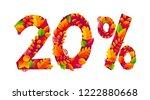 autumn sale 20  off discount...   Shutterstock . vector #1222880668