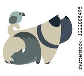 veterinary logo. illustration... | Shutterstock .eps vector #1222885495