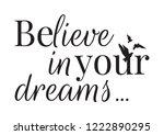 wall decals  believe in your... | Shutterstock .eps vector #1222890295