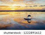 beautiful transparent glass... | Shutterstock . vector #1222891612