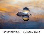 beautiful transparent glass... | Shutterstock . vector #1222891615