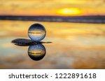 beautiful transparent glass... | Shutterstock . vector #1222891618