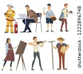 set of professions. collection... | Shutterstock .eps vector #1222896748