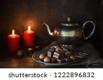 christmas chocolate sweets  two ... | Shutterstock . vector #1222896832