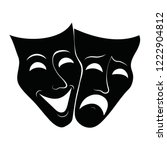 theatre masks. drama and comedy.... | Shutterstock .eps vector #1222904812