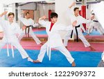 active concentrated kids in... | Shutterstock . vector #1222909372