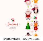 christmas card  background with ... | Shutterstock . vector #1222910638