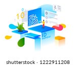 verification steps. people... | Shutterstock .eps vector #1222911208