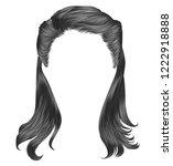 trendy woman long hairs gray... | Shutterstock .eps vector #1222918888