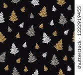 christmas tree seamless pattern ... | Shutterstock .eps vector #1222919455