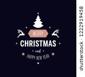 merry christmas greeting text... | Shutterstock .eps vector #1222919458