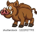 happy cartoon boar. vector clip ... | Shutterstock .eps vector #1222927795