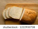 Sliced Bread Loaf On Cutting...