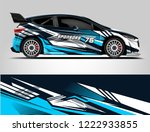 rally car wrap. abstract strip... | Shutterstock .eps vector #1222933855