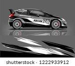 rally car wrap. abstract strip...   Shutterstock .eps vector #1222933912