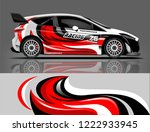 rally car wrap. abstract strip... | Shutterstock .eps vector #1222933945