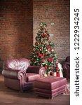 christmas  new year interior... | Shutterstock . vector #1222934245