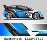 rally livery design. racing car ... | Shutterstock .eps vector #1222935622