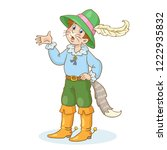 the boy in the carnival costume ... | Shutterstock .eps vector #1222935832