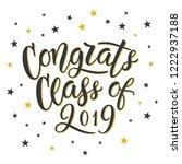 congrats class of 2019. hand...   Shutterstock .eps vector #1222937188