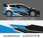 rally car wrap livery design.... | Shutterstock .eps vector #1222937578