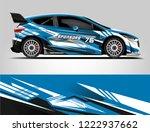 rally car wrap livery design....   Shutterstock .eps vector #1222937662