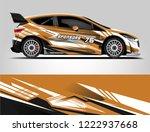 rally car wrap livery design....   Shutterstock .eps vector #1222937668