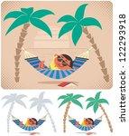 hammock relaxation  man... | Shutterstock .eps vector #122293918