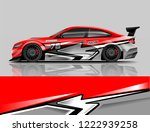 sport car livery design. car... | Shutterstock .eps vector #1222939258