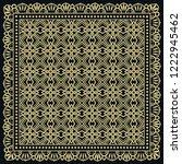 decorative golden geometric... | Shutterstock .eps vector #1222945462