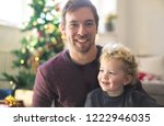 father and son enjoying... | Shutterstock . vector #1222946035