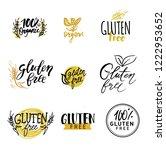 gluten free vector healthy... | Shutterstock .eps vector #1222953652