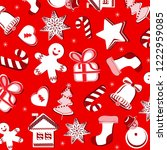 beautiful christmas pattern...   Shutterstock .eps vector #1222959085