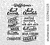 hot cocoa and hot chocolate... | Shutterstock .eps vector #1222961125