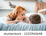 the red haired mother and the... | Shutterstock . vector #1222963648