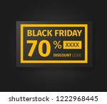 black friday 70 percent... | Shutterstock .eps vector #1222968445