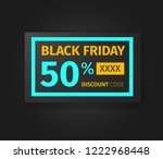 black friday 50 percent... | Shutterstock .eps vector #1222968448