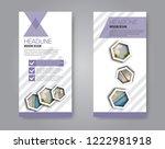 narrow flyer and leaflet design.... | Shutterstock .eps vector #1222981918