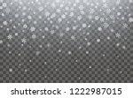 christmas snow. falling... | Shutterstock .eps vector #1222987015