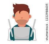 cartoon vector icon of computer ... | Shutterstock .eps vector #1222988605